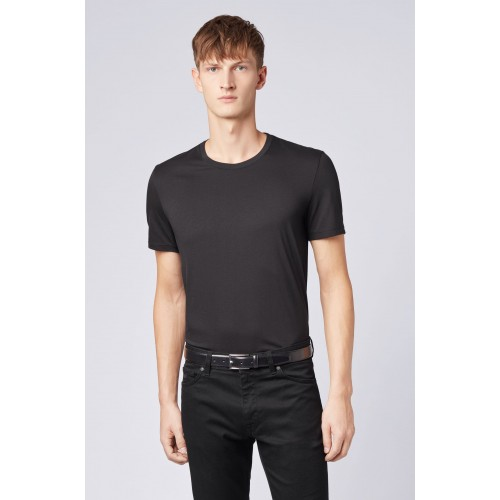 T-SHIRT HUGO BOSS TIBURT REGULAR NOIR 50379310